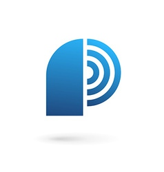 Letter p wireless logo icon design template vector
