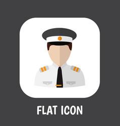 of occupation symbol on pilot vector image