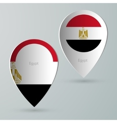 Paper of map marker for maps egypt vector