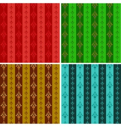 set from abstract seamless wallpaper in different vector image vector image