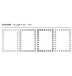 Set of four Mandala frames vector image