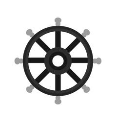 Ship wheel vector