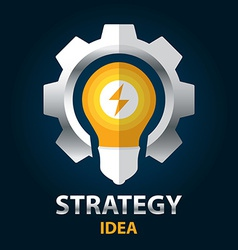 Strategy idea vector image