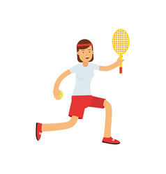 teen girl playing tennis active lifestyle vector image vector image