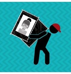 video icon design vector image vector image
