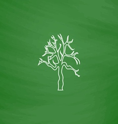 Old tree computer symbol vector