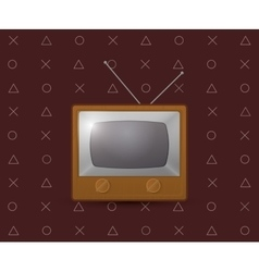 Retro tv emblem image vector