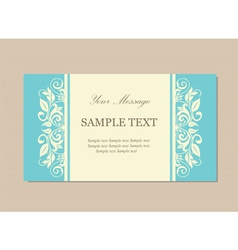 Floral vintage card blue vector