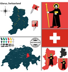 Map of glarus vector