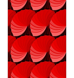 Seamless red gradient rosettes pattern vector