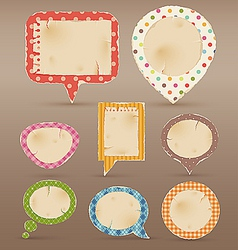 Vintage colorful bubbles for speech vector