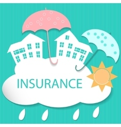 House insurance vector