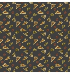 Pattern pepperoni pizza color vector