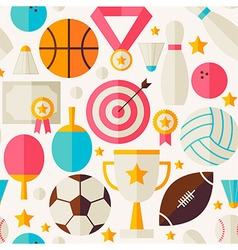 Sport competition recreation flat seamless pattern vector