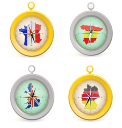 four compass vector image