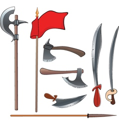 Ancient weapons setancient weapons set vector