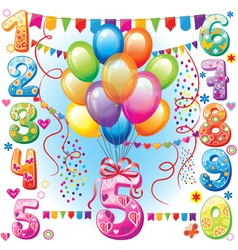 Happy Birthday balloons vector image