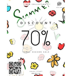 Discount 70 discounts price tag black friday vector
