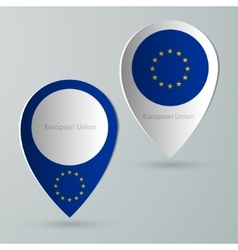 Paper of map marker for maps european union vector