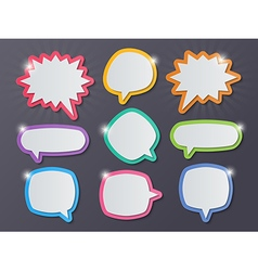 paper starburst speech bubbles vector image