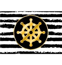 steering wheel sign in gold vector image