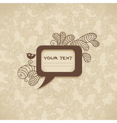 Vintage background with speech bubble vector