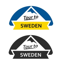 Tour to sweden set of badges vector
