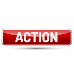 action - abstract beautiful button with text vector image