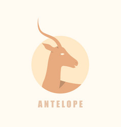 african antelope logotype vector image vector image