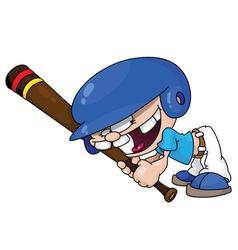 Baseball boy vector