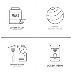 Bodybuilding Logo Set vector image vector image