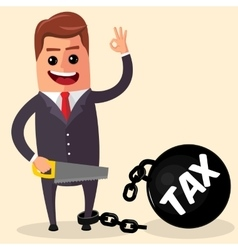 business man or manager cutting Tax burden vector image vector image
