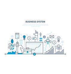 Business system planning analysis research vector