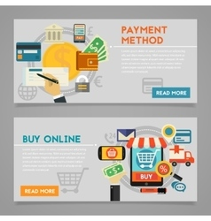 Buy online and payment methods concept vector