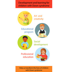 Children with down syndrome learning vector