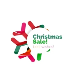 Christmas and new year promotion banner design vector