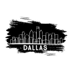 Dallas texas usa city skyline silhouette vector