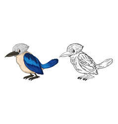 doodle animal for little bird vector image
