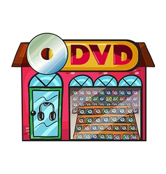 DVD store vector image