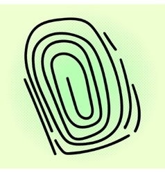 Fingerprint pop art vector image