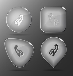 French curve glass buttons vector