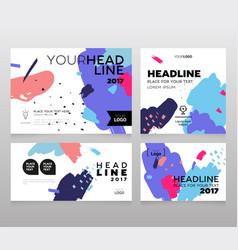 headline banner - modern set of abstract vector image vector image