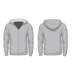Hoodies shirt template vector image