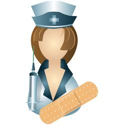 icon of nurse vector image vector image