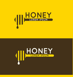 Logo of bee honey stylish and modern logo for vector