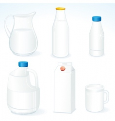 milk packages vector image vector image