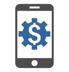 Mobile Bank Setup Flat Icon vector image vector image