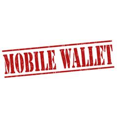 Mobile wallet stamp vector