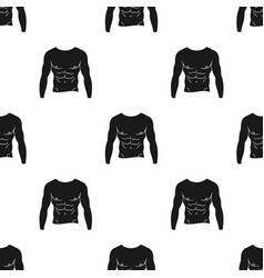 Muscular torso icon in black style isolated on vector