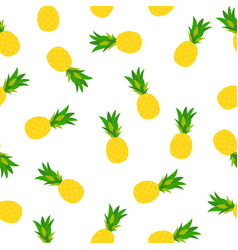 Pineapple natural seamless pattern backgroun vector